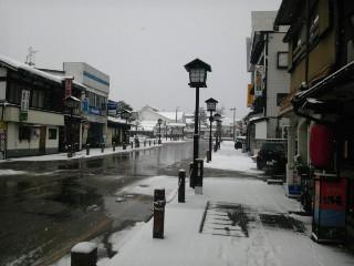 今朝の飛騨古川は雪